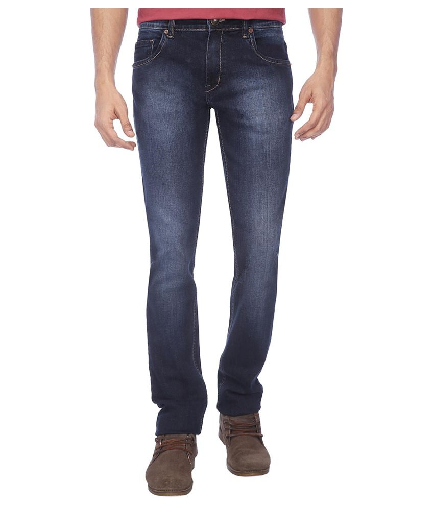 Life by Shoppers Stop Blue Cotton Regular Fit Jeans