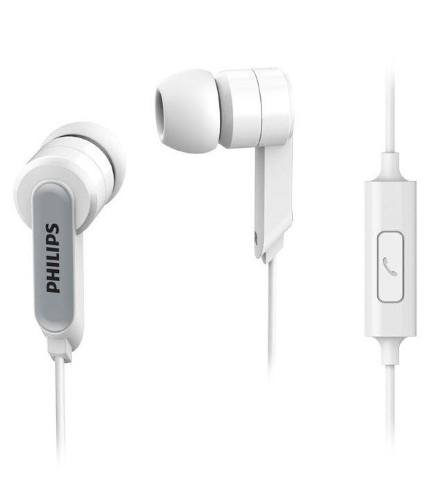 Philips in Ear Headphone Headset With Mic SHE1405/94 White