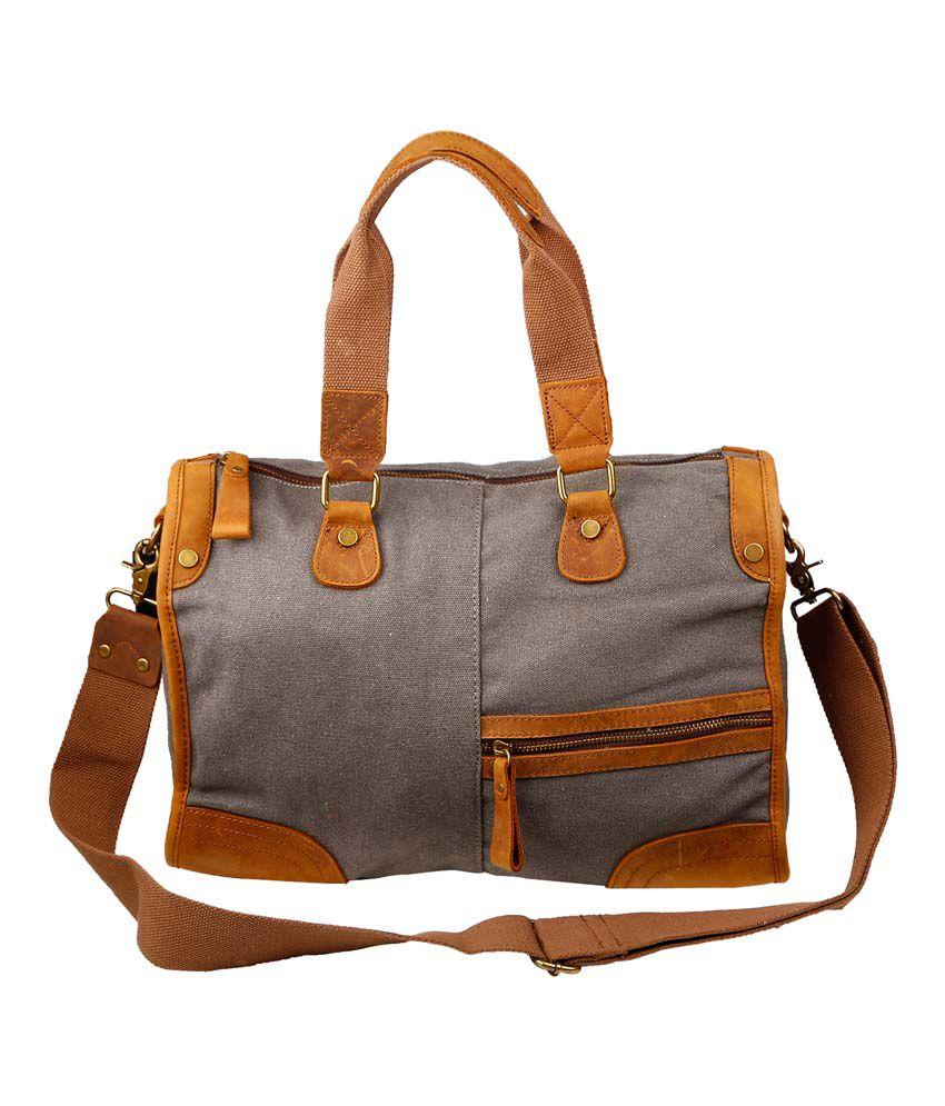 Just Women Gray Canvas Cloth Shoulder Bags