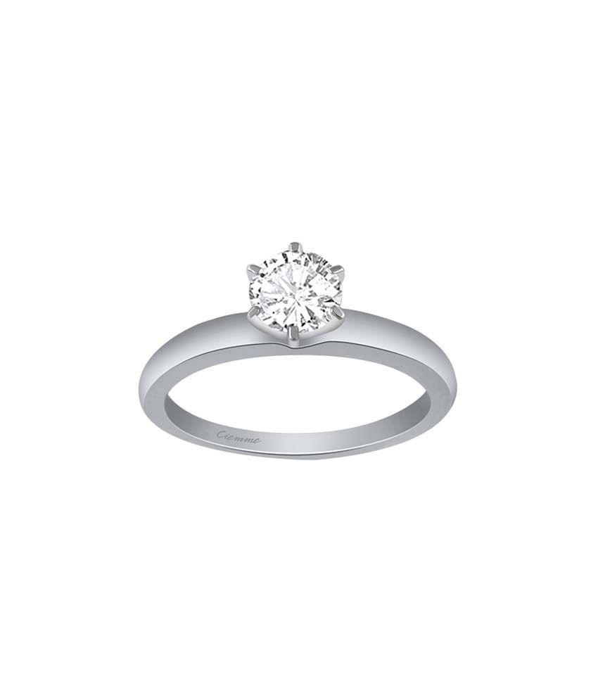 Ciemme 92.5 Sterling Silver 1.50 Ct CZ Solitare Ring