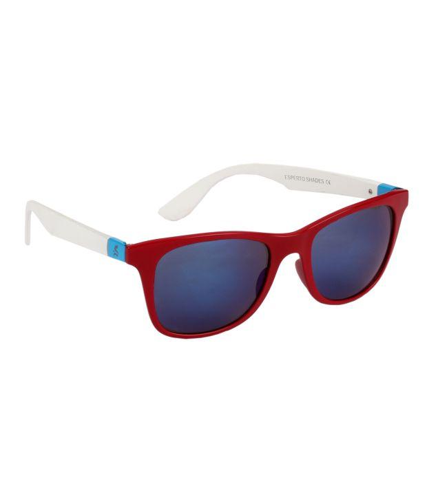 Esperto 90002 Blue Medium Wayfarer Sunglasses