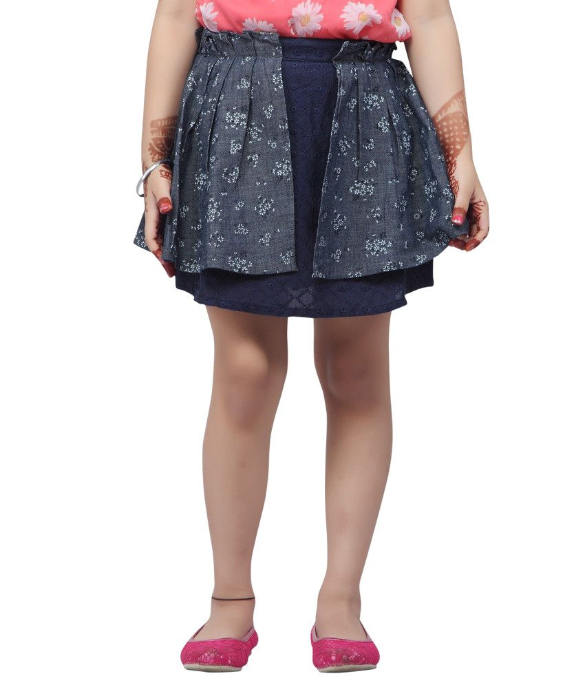 Stop By Shoppers Stop Navy Cotton Skirt