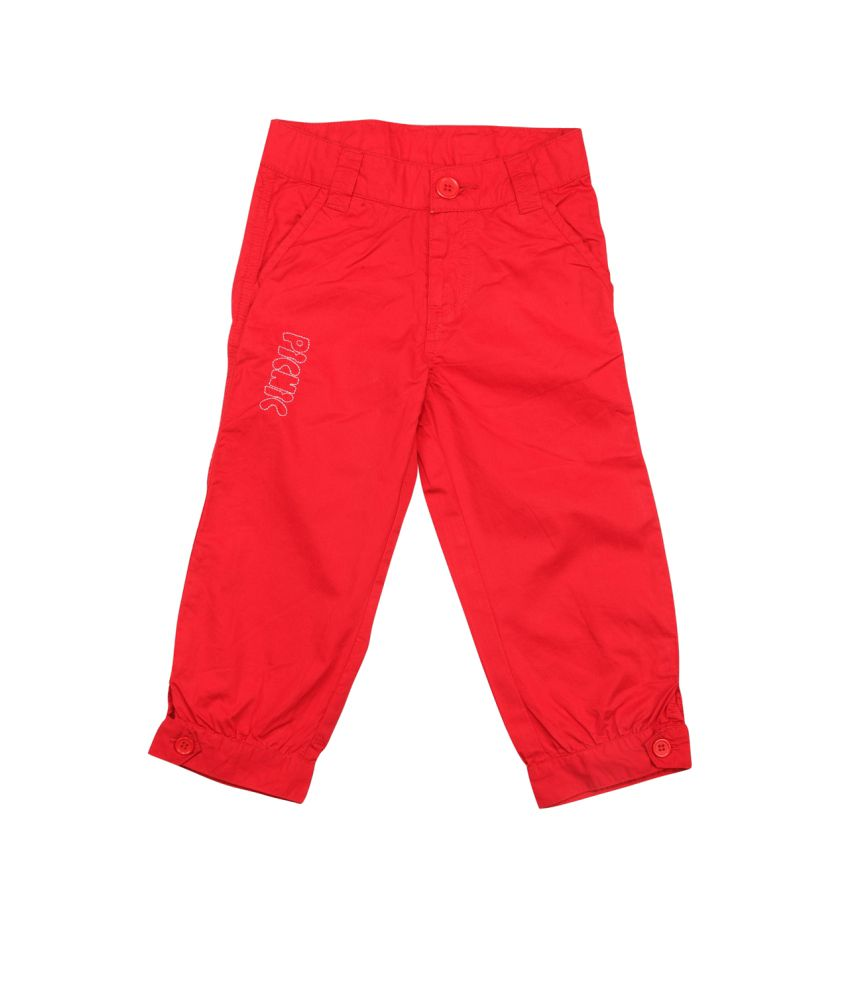 Stop By Shoppers Stop Red Cotton Capri
