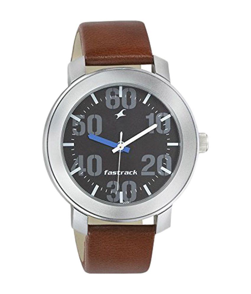 fastrack black dial watch for men 3121sl01 buy fastrack
