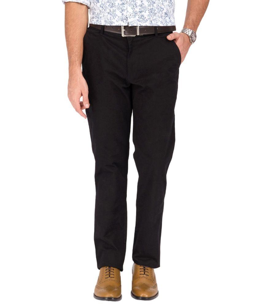 Pierre Colsun Black Slim Trousers