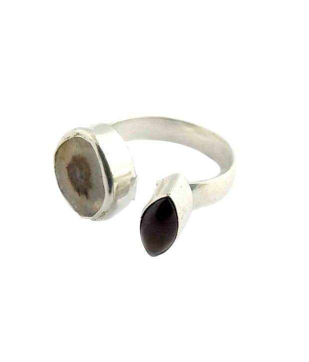 Miska Silver Silver Plated Contemporary Ring