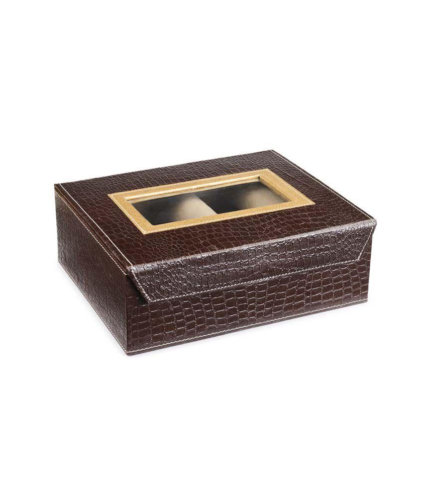 Ecoleatherette Designer 3 Rod Bangle Box
