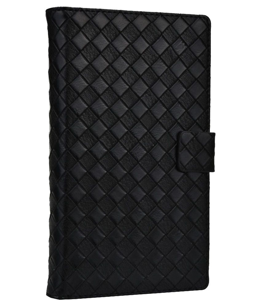 Jo Jo Leather Flip Cover For HTC Desire 816g Dual Sim - Black