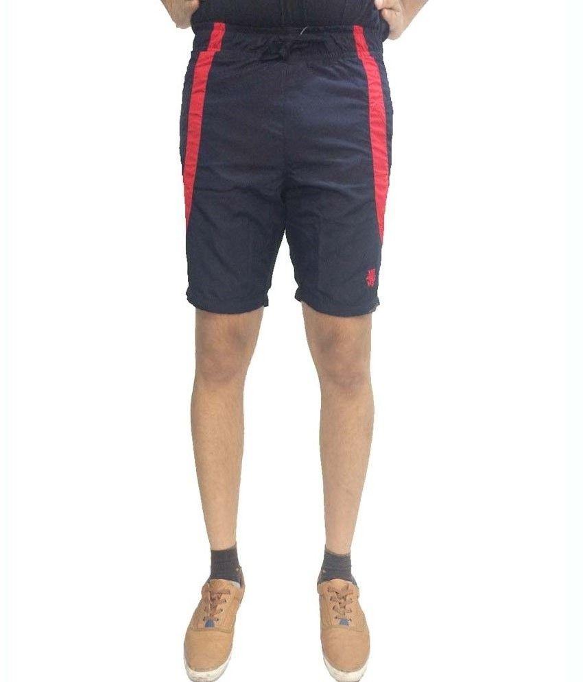 London Eye Red Taafta Shorts