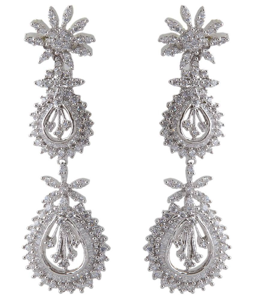 Aaina White Chandelier Earring