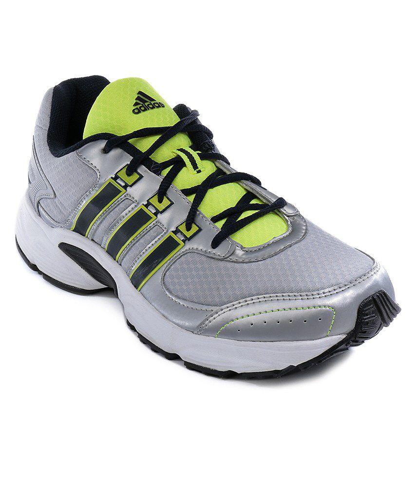 adidas vanquish silver sport shoes