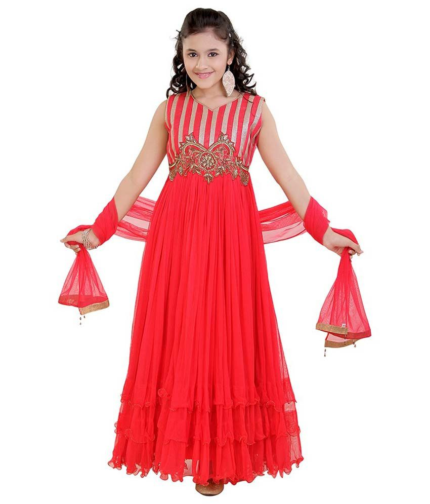 2f2265887 Jazzup Party Gown With Dupatta For Girls - Buy Jazzup Party Gown With  Dupatta For Girls Online at Low Price - Snapdeal