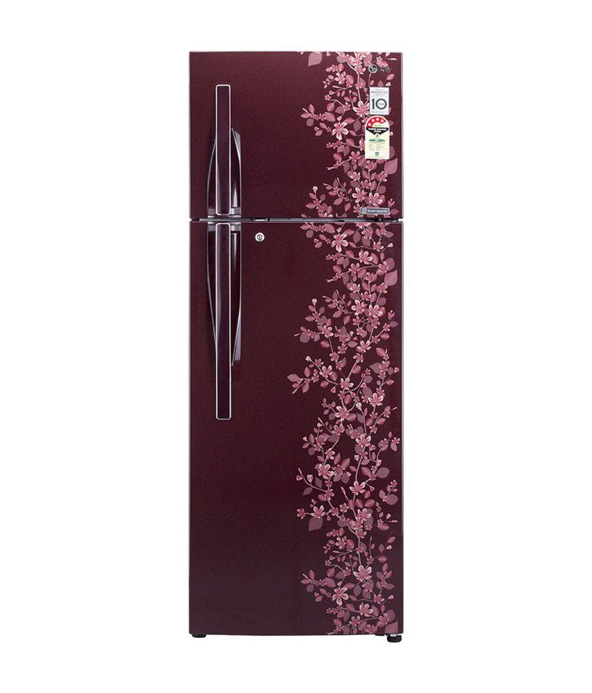 LG 255 LTR 3 Star GL-C282RSPL Frost Free Refrigerator - Scarlet Paradise