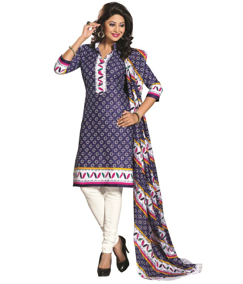 cf9a4602ac Laxmi Dress Materials Purple Cotton Unstitched Dress Material Price in  India | Buy Laxmi Dress Materials Purple Cotton Unstitched Dress Material  Online ...