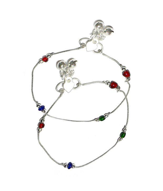 Beadworks Multicolour Designer Anklets