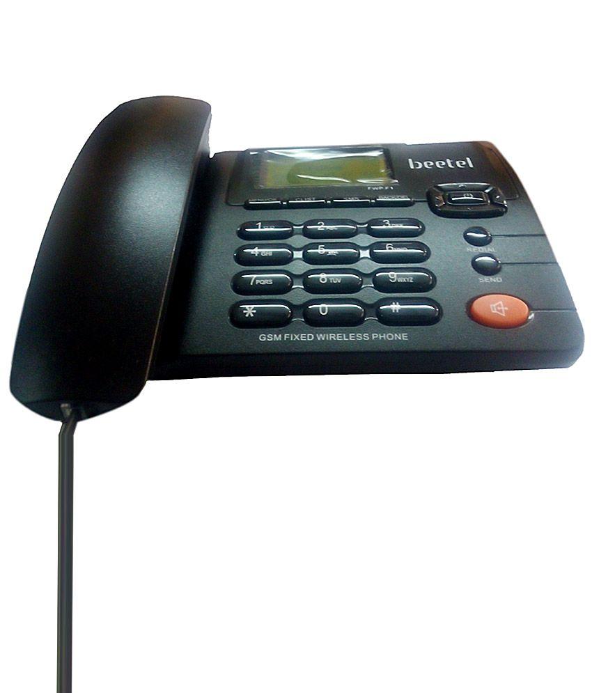 Beetel F1 Wireless GSM Landline Phone ( Black )