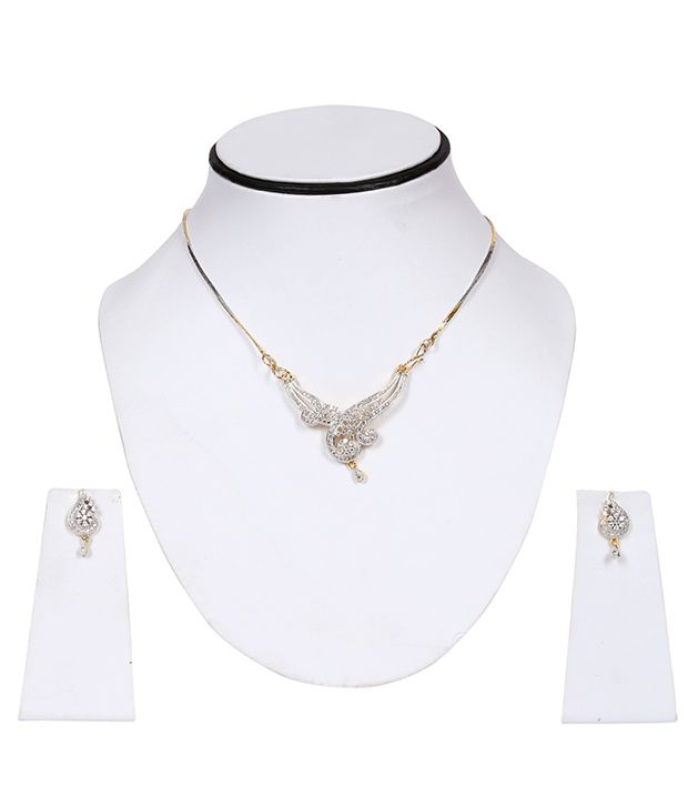 Esoft Silver Brass Copper Mangalsutra Set