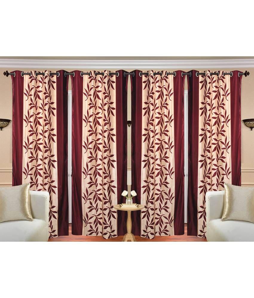 Handloom Hut Set of 4 Door Eyelet Curtains