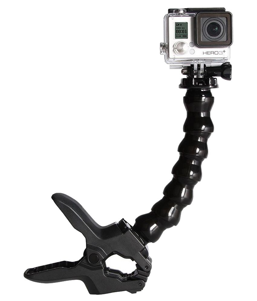 Smiledrive Flexible Jaw Clamp Mount With Adjustable Neck For Gopro