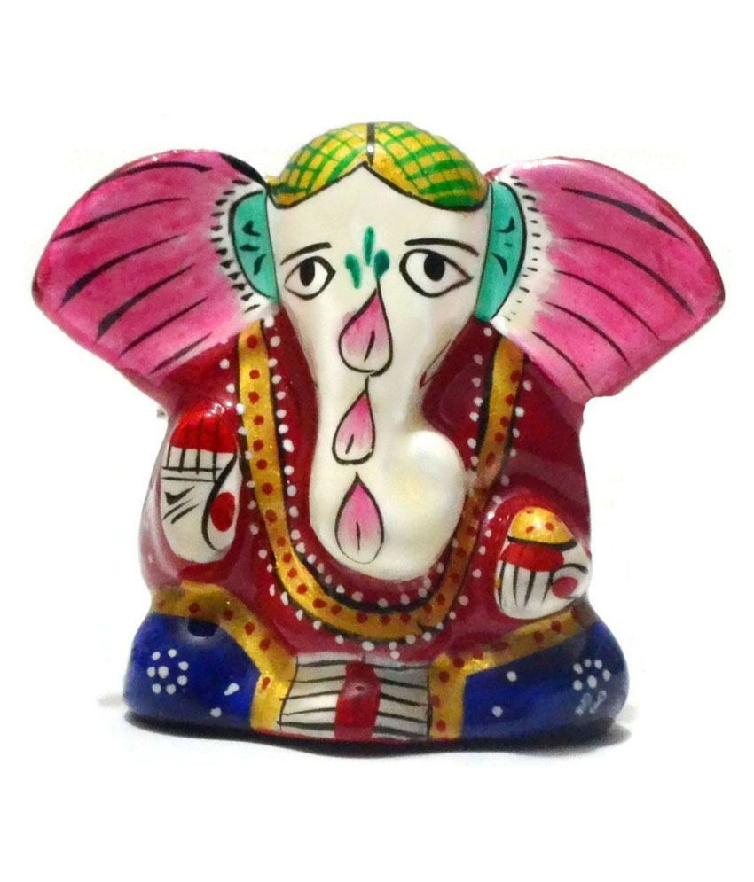 Collectible India Red Brass Ganesha Idol