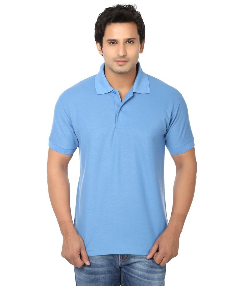 Awa classic blue solid half sleeve t shirt for men buy for Half sleeve t shirts for men