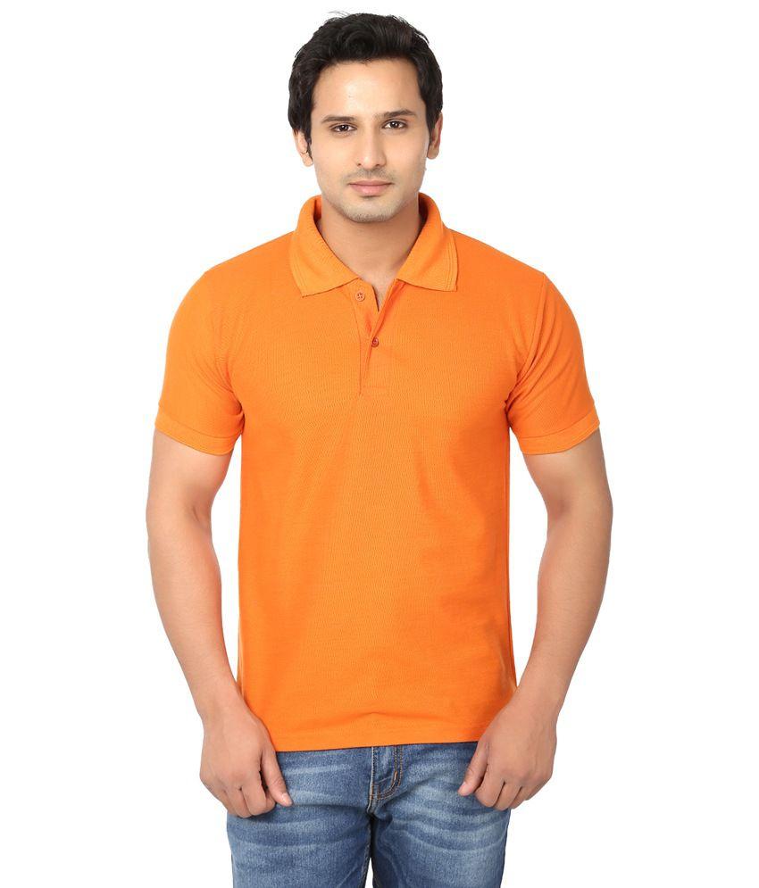 Awa orange solid half sleeve t shirt for men buy awa for Half sleeve t shirts for men