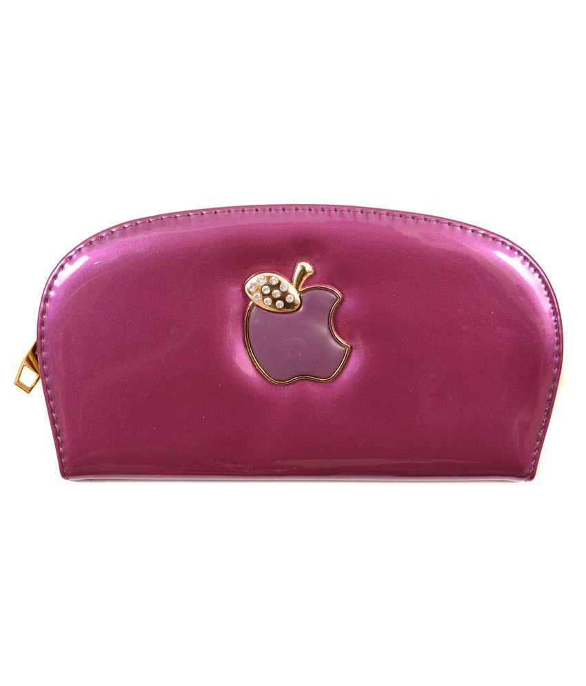 Amage Purple Non Leather Long Wallet for Women