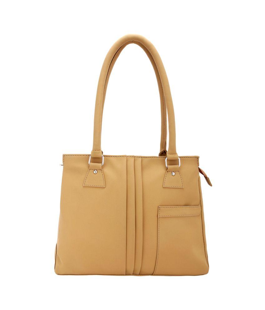 Borsavela Beige P.u. Handle Bag