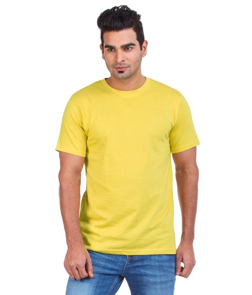 Heritage Yellow Cotton Half Sleeve Round Neck