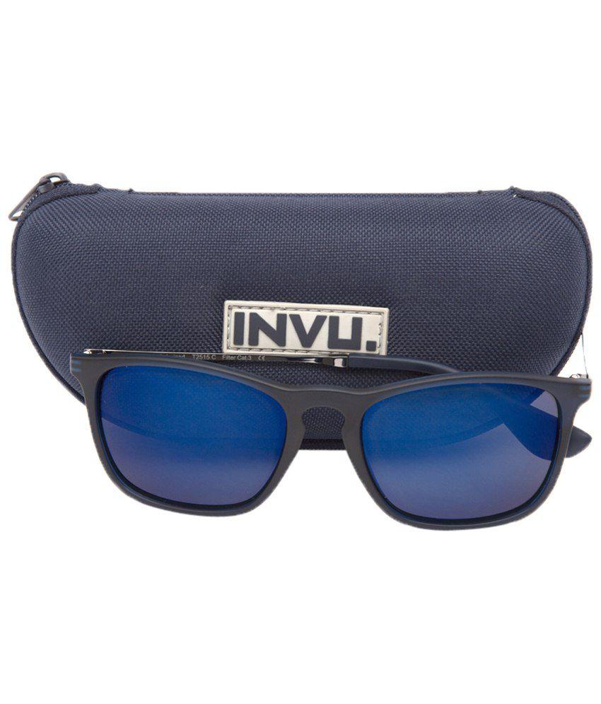 c55bea1873 Invu Eye Catching Blue Wayfarer Unisex Sunglasses - Buy Invu Eye ...