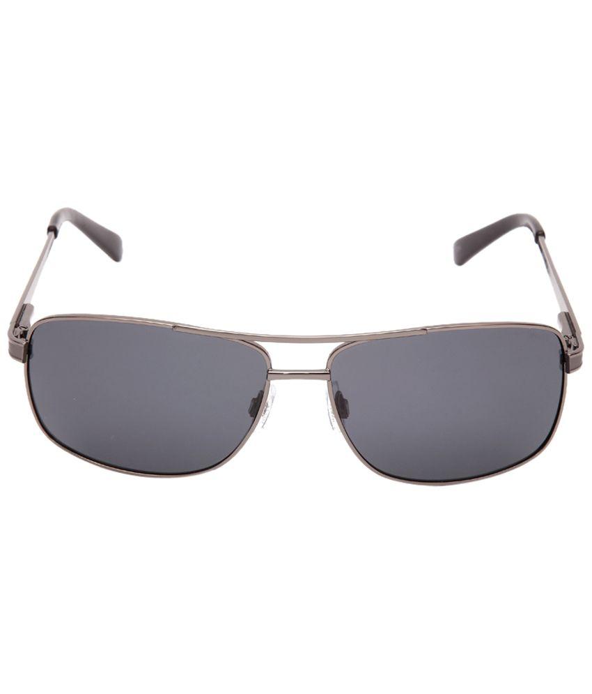 Invu Fashionable Gray Rectangle Unisex Sunglasses