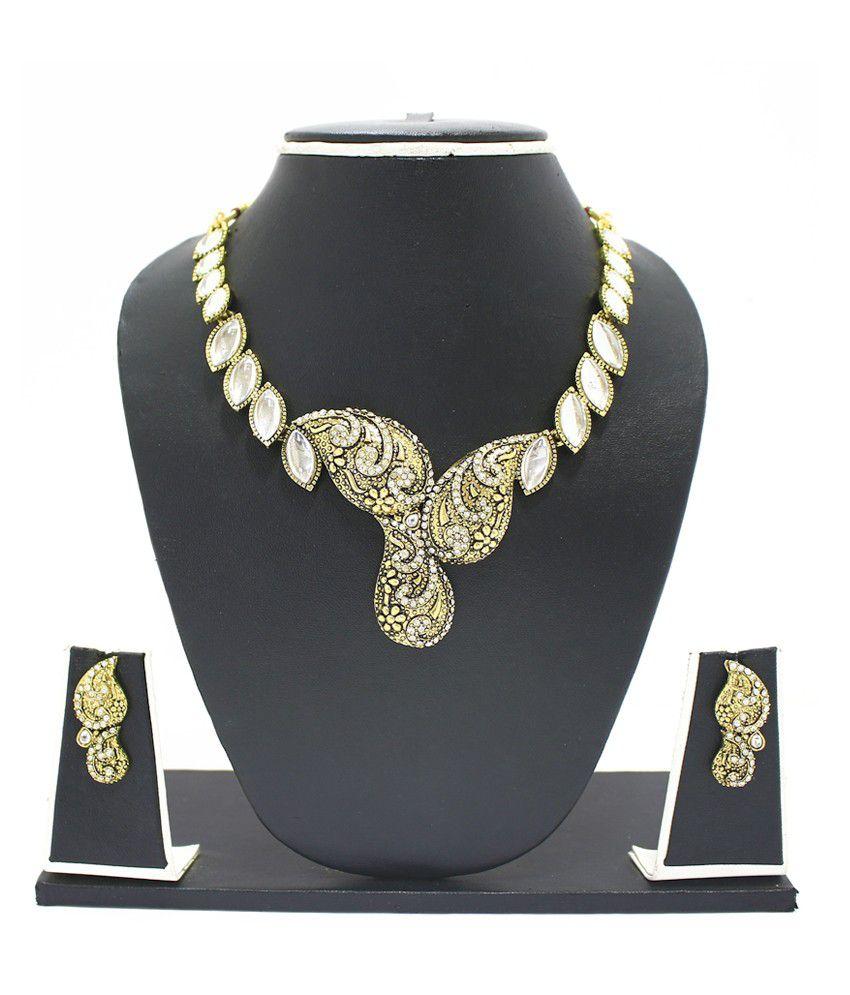 Zaveri Pearls Alloy Necklace Set