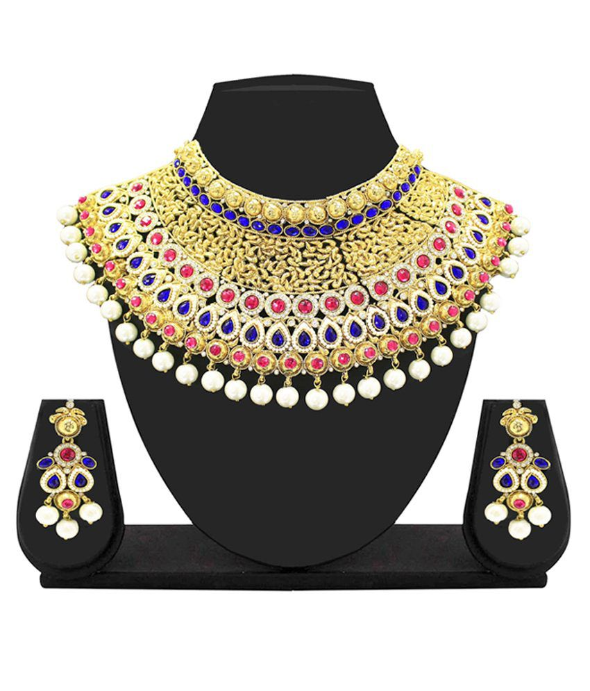 Zaveri Pearls Alloy Necklace Set
