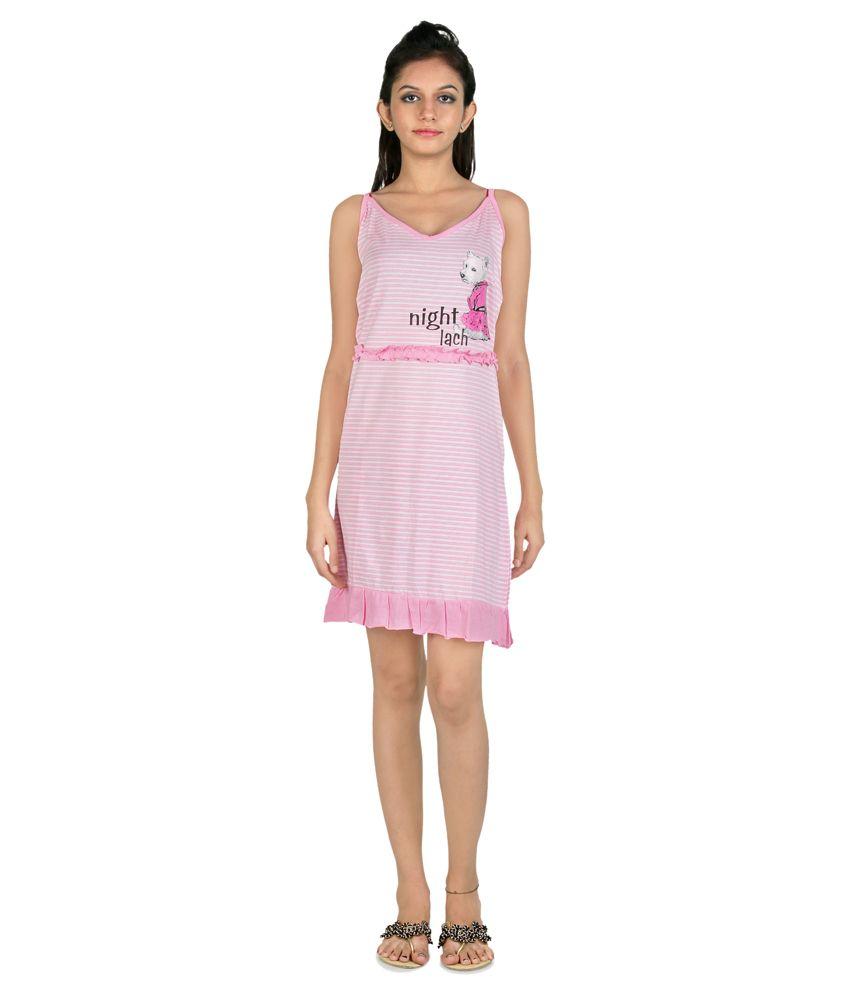 Namo India Pink Cotton Nightsuit Sets