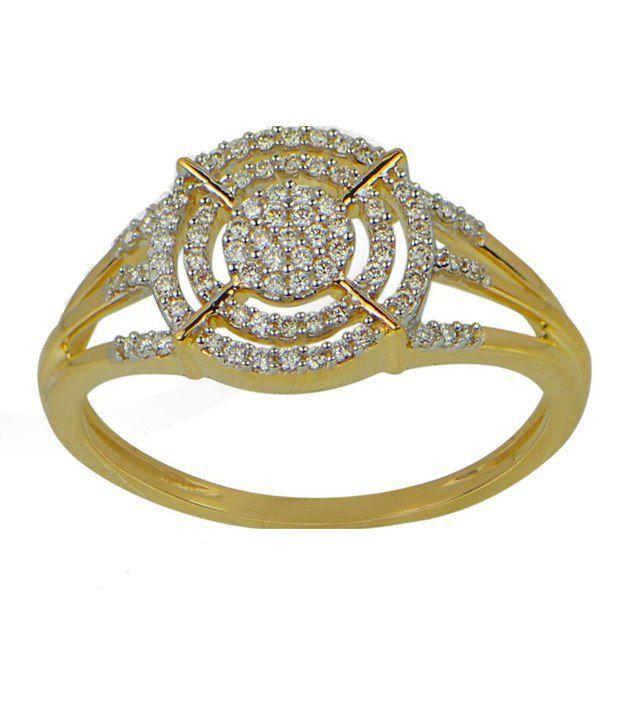 Om Jewels Diamond Ring 18k Gold 79 Diamonds