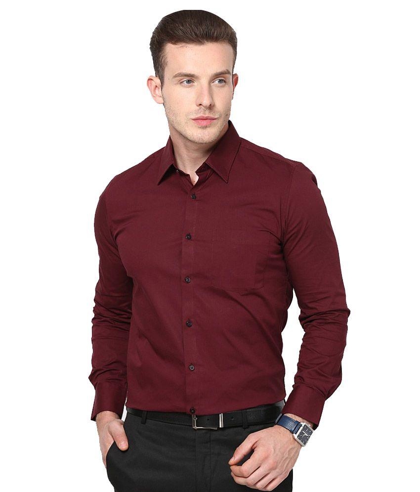 Maroon Color Formal Shirts | Coloring