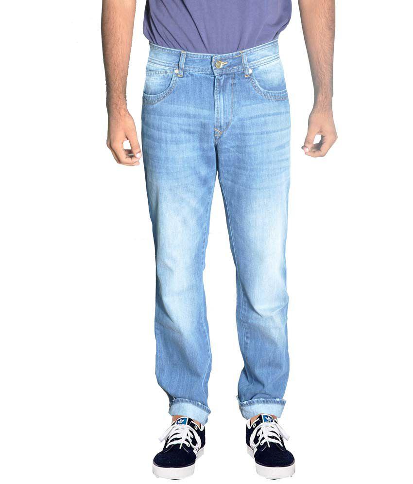 American Bull Blue Cotton Regular Fit Jean For Men
