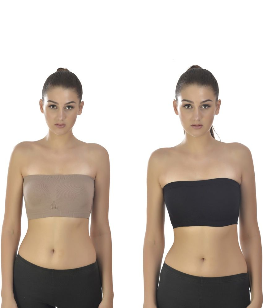 ff2f89472 Buy Dazzle Collection Multi Color Poly Cotton Strapless Bras Bra Pack of 2  Online at Best Prices in India - Snapdeal