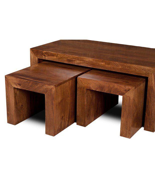 ... Henefer Solid Wood Nesting Tables (Set Of 3) ...