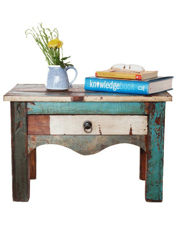 Kota Solid Wood Side Table with Drawer