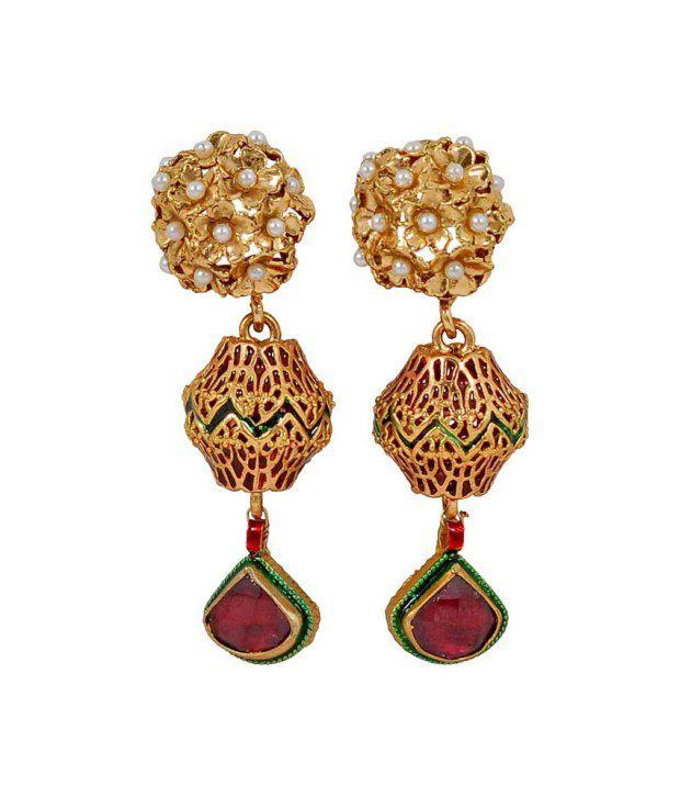 Maayra Fancy Antique Drop earrings