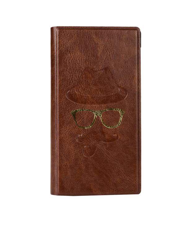 Jo Jo Cover Moustache Series Leather Flip Cover For Allview 1 Xtreme Mini - Brown