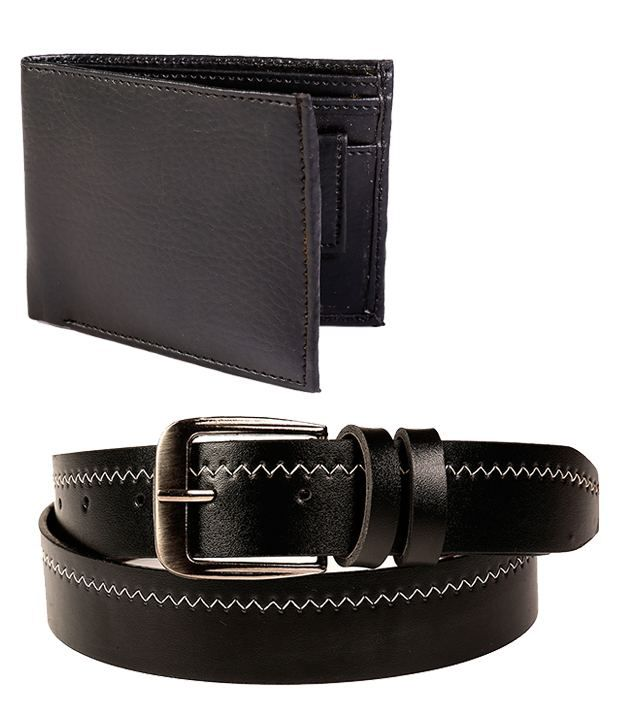 Fedrigo Stylish Combo Of Black Belt & Wallet