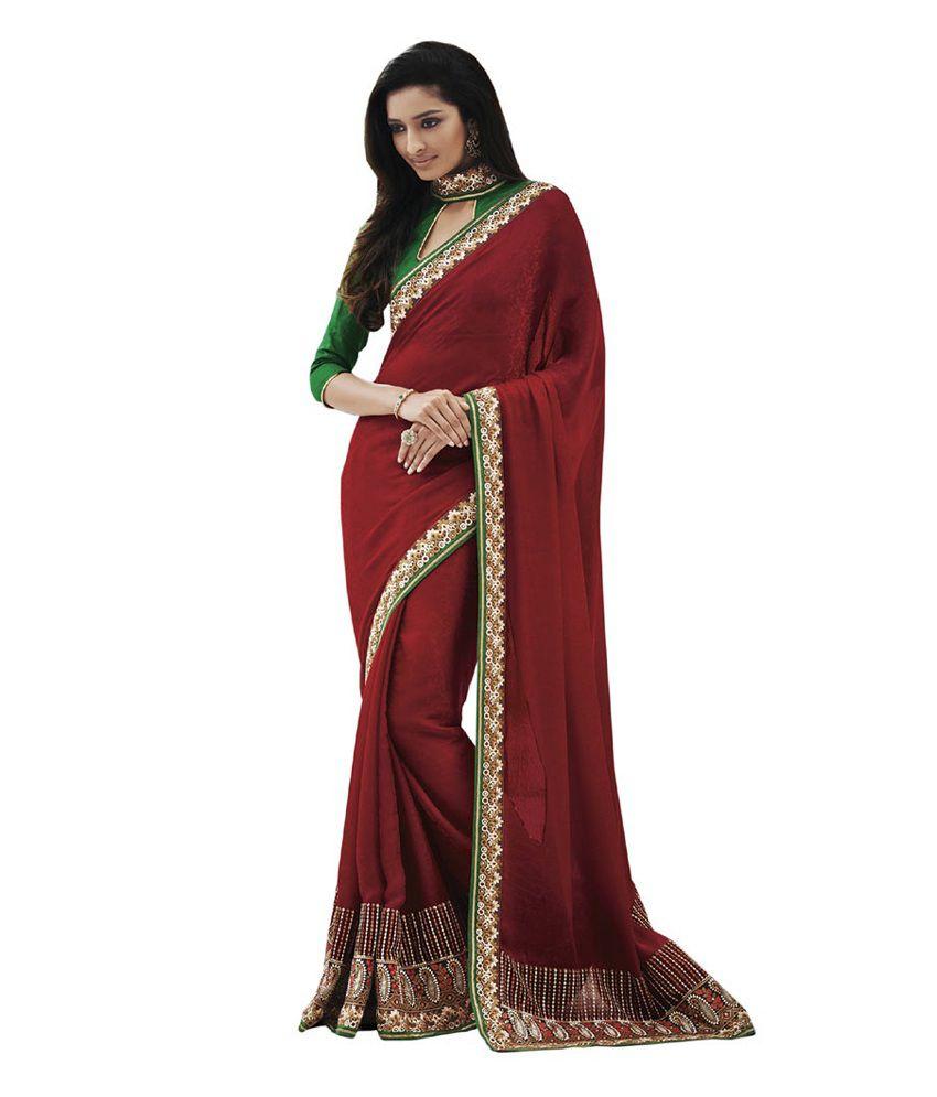 Indian Lady Multi Semi Chiffon Pack of 2