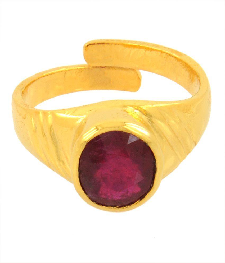 Paduka 4.17 Ratti Citrine in 5 Dhathu Ruby Gemstone Ring