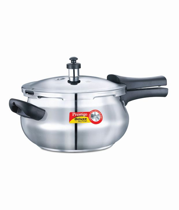 2b022b37e88 Prestige Deluxe-Alpha Base 4.4 Ltr Junior Handi Stainless Steel Outer Lid Pressure  Cooker  Buy Online at Best Price in India - Snapdeal