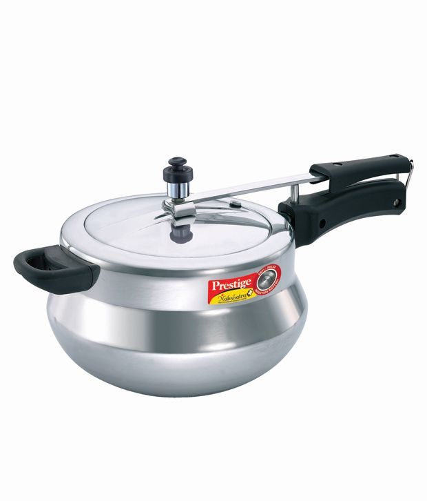 Prestige Nakshatra Plus Polished Handi Aluminium 5 L Pressure Cooker (Induction Bottom, Inner Lid)