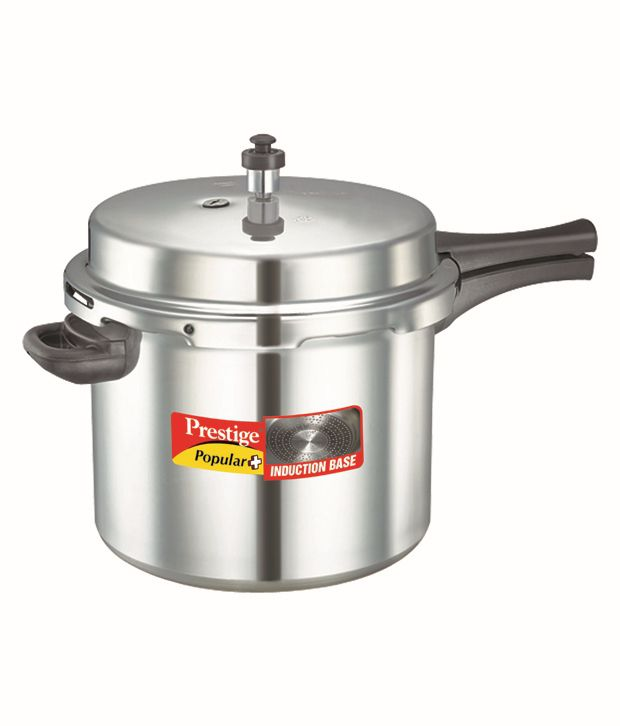 Prestige Popular Aluminium Cooker 10 L Pressure Cooker (Induction Based, Outer Lid)