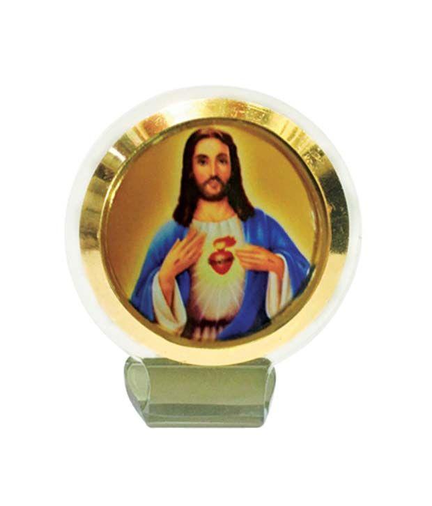 Bulb Centre Christian God Idol Jesus Christ Frame For Car Dashboard