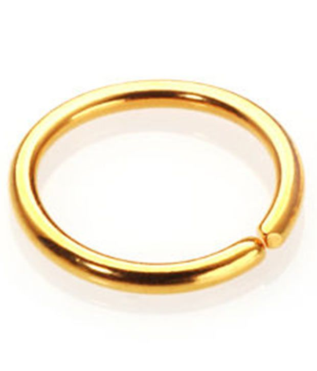 Gandhi Jewellers Simple Plain Gold Nose Ring